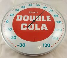 DOUBLE COLA CHATTANOOGA TN TENN SODA POP ROUND DOME ADVERTISING THERMOMETER