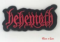 Behemoth Heavy Death Metal Logo Rock Band Embroidered Iron/Sew on Patch #883