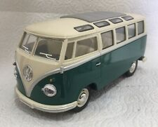 1962 Volkswagen 21 Window Micro Bus 1/24 Die-Cast By Kinsmart Green New Over 6""