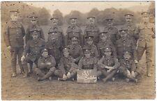 RPPC WW1 ARMY SERVICE CORPS ASC 35th FIELD BUTCHERY 1915 V.G. CONDITION POSTCARD