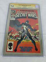 Marvel Super Heroes Secret Wars #8 GCG 9.8 NM Spider-Man Stan Lee Signed