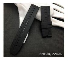 22mm Black thick Silicone/Rubber Strap for Breitling Chronomat,navitimer/avenger
