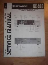 Kenwood Service Manual~KX-900 Cassette/Tape Deck/Player~Original Repair