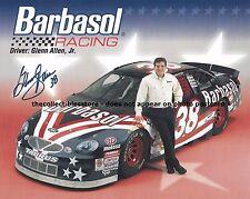 GLENN ALLEN AUTOGRAPHED 1999 BARBASOL RACING NASCAR HERO CARD PHOTO POSTCARD