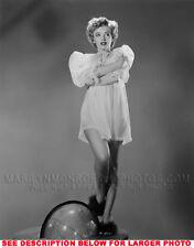 MARILYN MONROE SEETHRU NIGHTIE ONGLOBE 1xRARE8x10 PHOTO