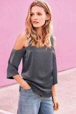 May BNWT Steel grey cold shoulder  cami top  Size 10 Retails £26