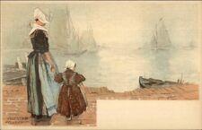 Holland Native Dutch People H. Cassiers c1900 Postcard VOLENDAM #1