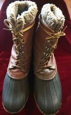 Mens Lacrosse Outdoorsman Duck Hunting Boots Leather Winter Snow sz 11 VINTAGE!