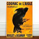 """Vintage Liquor Advertising Poster Art ~ CANVAS PRINT 8x10"""" Cognac de L'aigle"""