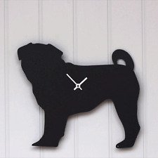 PUG CLOCK WITH WAGGING WAG TAIL MOVEMENT by The Labrador Co QUIRKY GIFT PRESENT