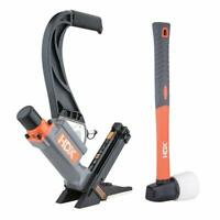 Pneumatic Flooring Nailer W/ Staples Fiberglass Mallet No-Mar Foot HDX50LSLWN