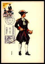 Spain MK 1974 esercito militare soldato Uniform uniformi maximum scheda MC cm ab79