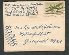 May 1944 WWII cover Pvt Kenneth D Johnson Co C 765 Ry Shop Bn Camp Plauche LA