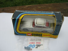 CORGI 270 1968 JAMES BOND ASTON MARTIN PLAYWORN SET