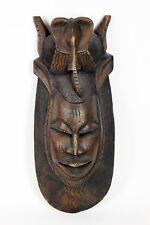 """Vintage Primitive African Carved Wood Tribal Mask Large / Art / Home Decor 27"""""""