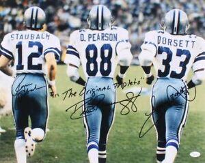 """Dallas Cowboys - """"Triplets"""" Staubach, Pearson, Dorsett - 8x10 Photo - REPRINT"""