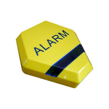 Dummy Alarm Bell Box - Yellow Dummy Burglar Alarm Box - Solar Powered LED Lights