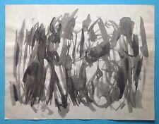 Laure PLACIDE Encre Gouache 1965 Abstrait lyrique Ubac Braque Picasso Matisse