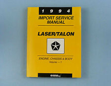 Service Manual, '94 Dodge Laser/Eagle Talon, Eng/Chas/Body, Vol. 1, 81-270-4500