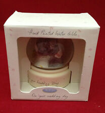 ME TO YOU BEAR TATTY TEDDY ON YOUR WEDDING DAY WATER GLOBE IN BOX GIFT
