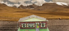 1/64 Slot Car HO Red Brick Rambler Photo Real Build Kit Race Track Layout Sets