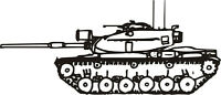 M - 60 Tank Military Vinyl Decal Sticker Window Wall Car Sign