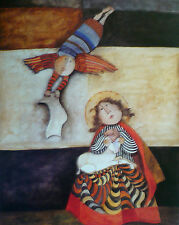 MARY & ANNOUNCEMENT OF BABY JESUS Art - Graciela Rodo Boulanger - Collectible