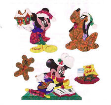 Sandylion Vtg MICKEY MOUSE Baking Ginger Bread Cookies Stickers 1 Square RETIRED
