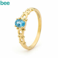 Blue Natural Yellow Gold Fine Rings