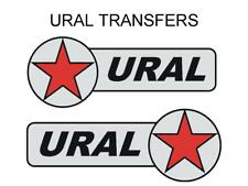 Ural Tank & Sidecar Transfers Decals Motorcycle DURAL10 Black Silver Red