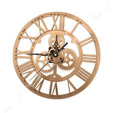 30cm Round Gold Skeleton Clock Acrylic Numerals Retro For Steampunk Wall Decor