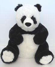"Large Hugfun Panda Bear 24"" Plush Stuffed Animal Sitting Super Soft Black White"
