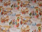 VTG A CHRISTMAS CAROL STORE WRAPPING PAPER 2 YARDS GIFT WRAP DICKENS VICTORIAN