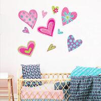 Cute Heart Collection Girls Nursery Wall Stickers Art Mural Kids Room Decor