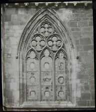 Glass Magic Lantern Slide HOWDEN CHURCH NAVE WINDOW DATED 1911 PHOTO YORKSHIRE