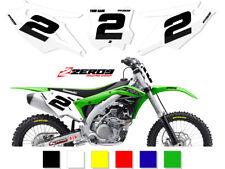 Kawasaki Motocross fondos número placa gráficos KX KXF KLX Comp 2 125 - 450
