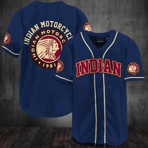 Indian Motorcycle 1901 Red Indian Baseball Jersey Shirt 2021