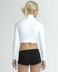 Bodywrappers Nylon Turtleneck Long Sleeve Crop Top Cheerleader top 4 colrs CHEER
