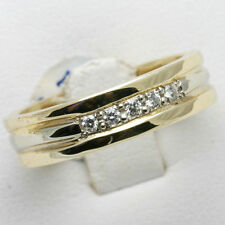 14K Yellow Gold Mens Bands Size W 0.20 Ct SI1 Natural Diamond Wedding Ring 02