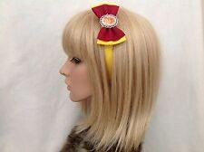 Harry Potter gryffindor headband hair bow rockabilly pin up geek slytherin crest