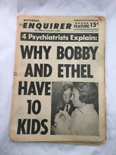 National Enquirer July 2 1967 Bobby Ethel Kennedy Cover Tabloid Newspaper