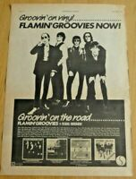 FLAMIN' GROOVIES NOW 1978 FULL PAGE PRESS ADVERT POSTER SIZE  37/26CM