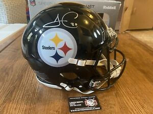JAMES CONNOR Autographed Full Size Speed AUTHENTIC Helmet  STEELERS Fanatics