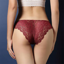 Ladies Womens Lace Briefs Pants Knickers Underwear Low Waist Stretch Underpants