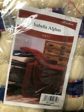 New listing Herrschners Isabella Afghan Kit Cream
