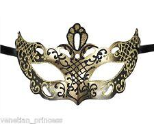 Men's Gold Black Masquerade Mask 50 Shades Of Grey Inspired Unisex PM010GDBK