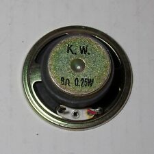 "Speaker small 2"" inch diameter 8 ohms 0.25W full range K.W. Ceramic magnet Sp84"