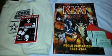 KISS World Domination  Tour Book from 2003-2004.  12/10/2003 W 2 TIX & CONFETTI