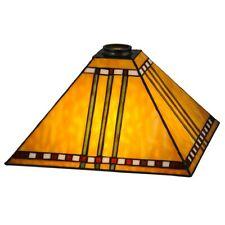 Meyda Lighting 13'Sq Prairie Corn Shade, Ha 59 Burgundy Beige - 28592