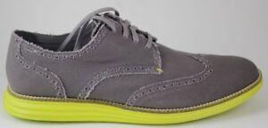 Men's Cole Haan Original Grand Wtip Grey Canvas/Yellow C21003 Brand New in Box